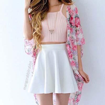 Комбинация бяло и розово за лято 2018