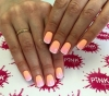 розов маникюр за късни нокти