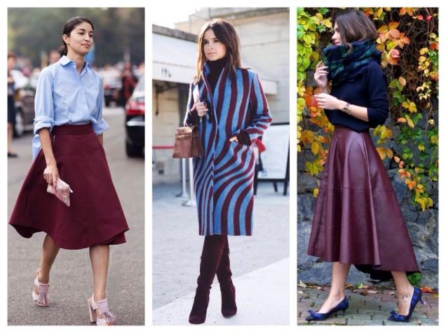 правилно съчетание на дрехи бордо 2019