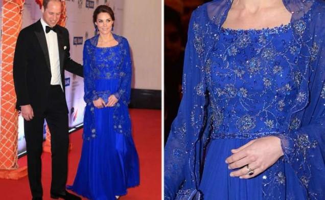 Кейт Мидълтън красива в синьо