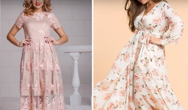 дантелени рокли 2019