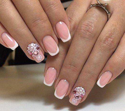 розов френски с бяло