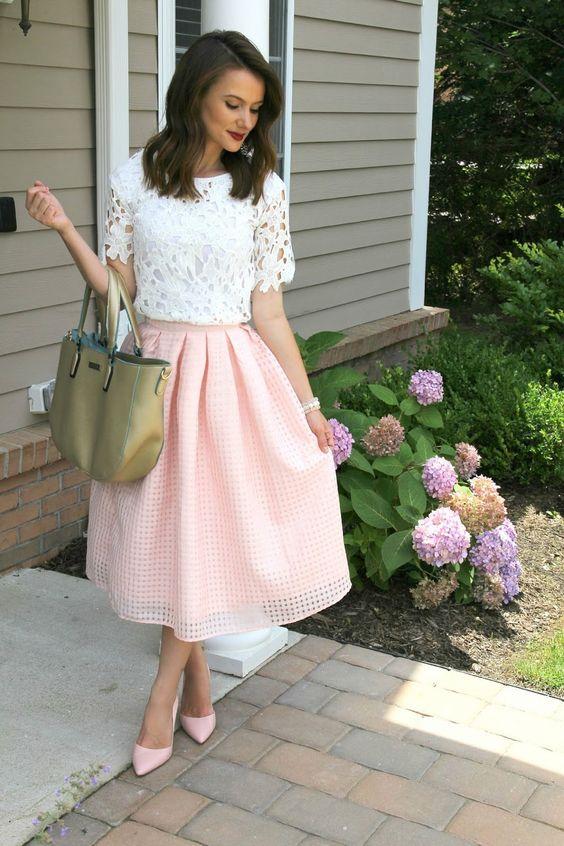 романтична розова пола