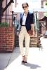 елегантен бял панталон