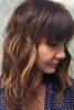 Коса на вълни с прав бретон