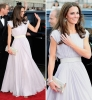 Кейт в красива бяла рокля