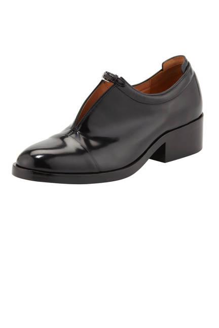 Обувки лак и кожа