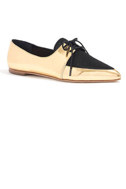 Обувки в златно
