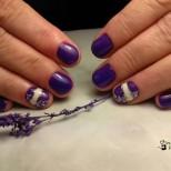 Маникюр цвят патладжан за къси нокти