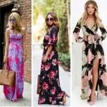 летни рокли на цветя