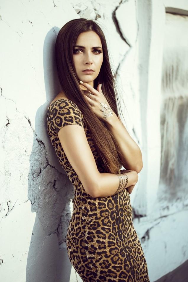 леопардов десен рокля