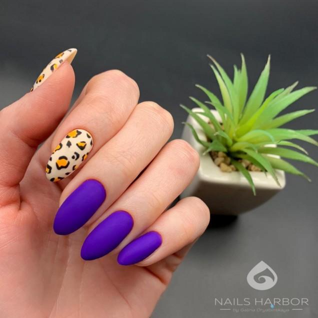 Пролетен маникюр с леопардов принт
