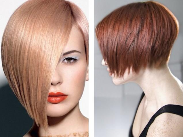 асиметрична къса коса