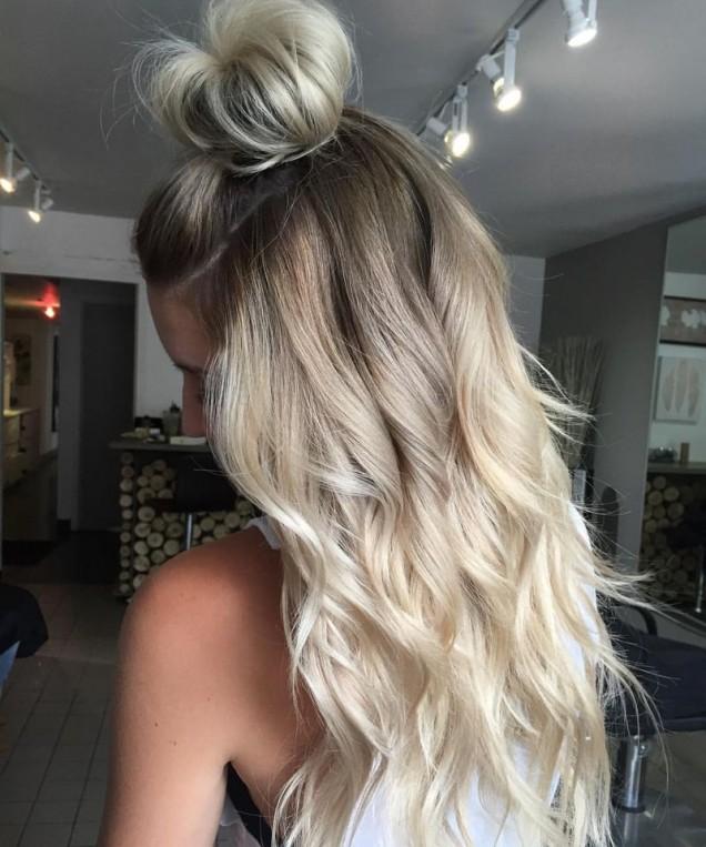 Прическа за дълга коса 2019