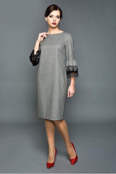Свободна рокля с красиви ръкави
