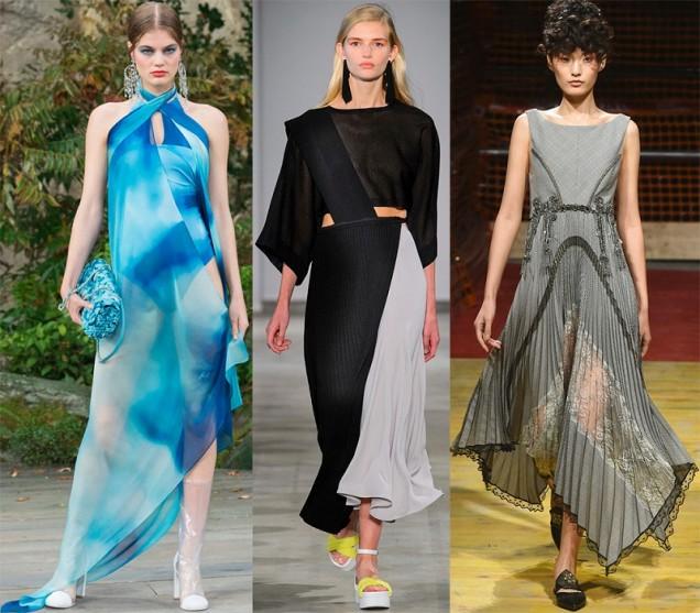 дълги разкроени рокли