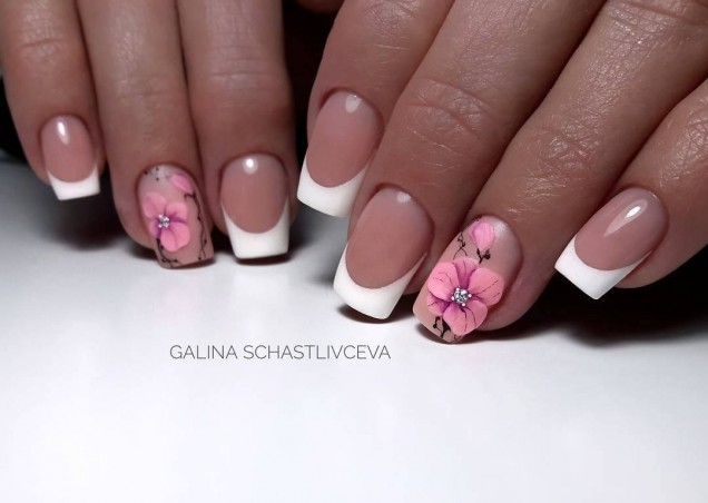 френски с цвете