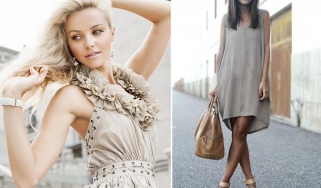 бежова лятна рокля