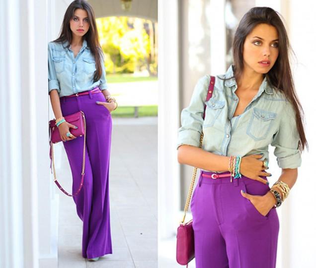 лилав панталон