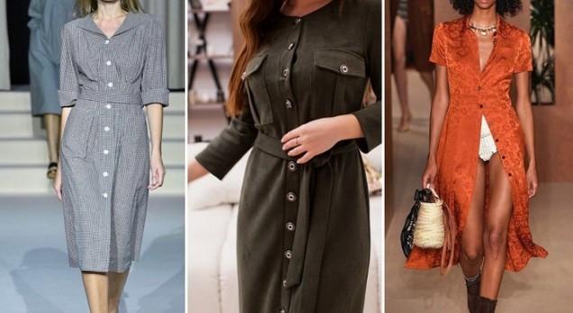 модерни рокли  с цепки