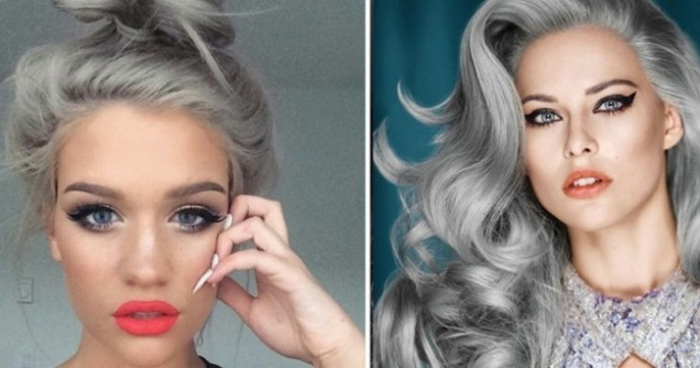 сиви нюанси за косата