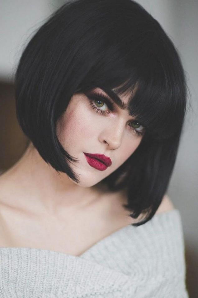 боб прическа за черна коса