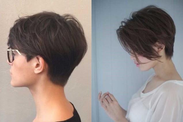 къса коса без обем прически