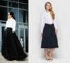 бяла риза и тъмна пола