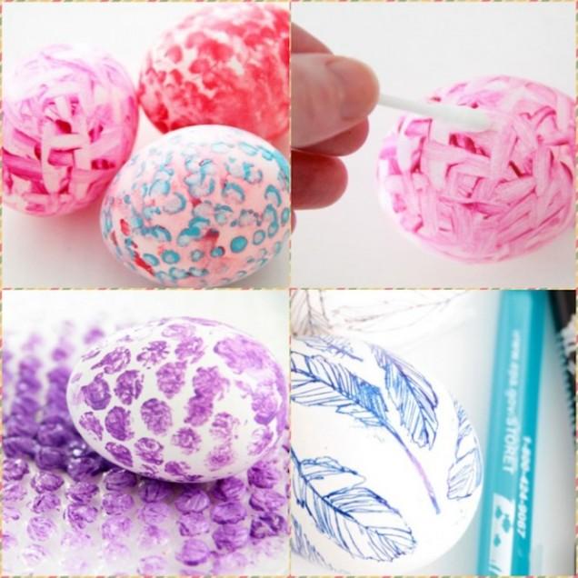 Декориране на яйца с черупки