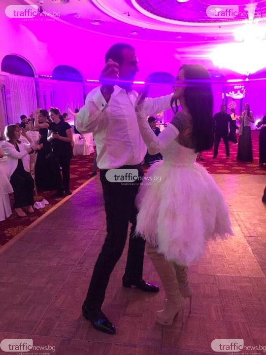 Цеци Красимирова на сватбата си