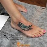 татуировка на крака