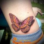 татуировка на глезена пеперуда