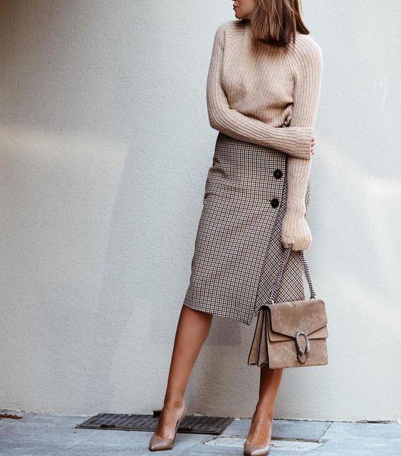 елегантна пола с прихлупване