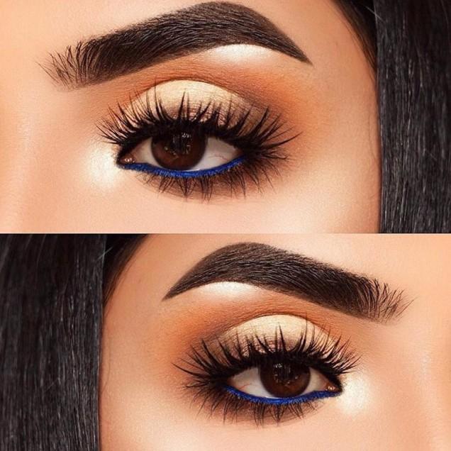 вежди за кръгли очи
