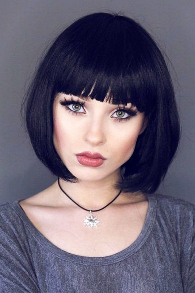 Прическа за черна коса модерна