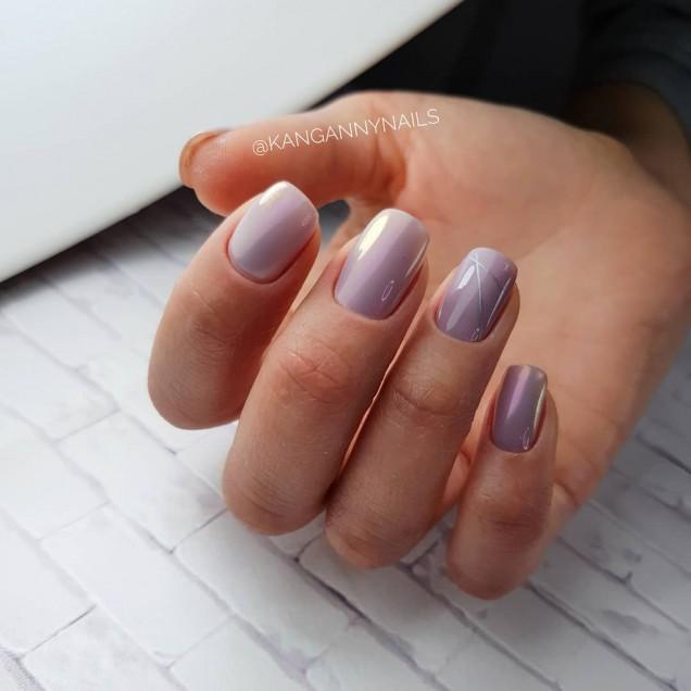 Модерен маникюр за къси нокти