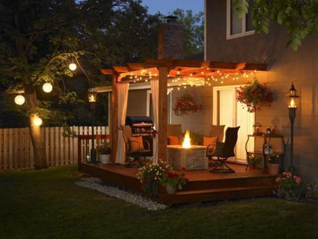 красиво градинско осветление