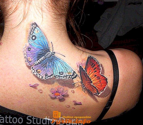 пеперуди на гърба