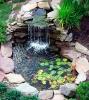 оригинален водопад в двора