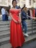 красива червена рокля за бала