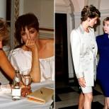 принцеса Даяна с Лайза Минели и Хилъри Клинтън