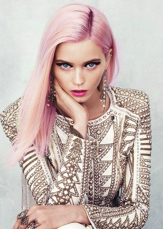 розово-руса коса