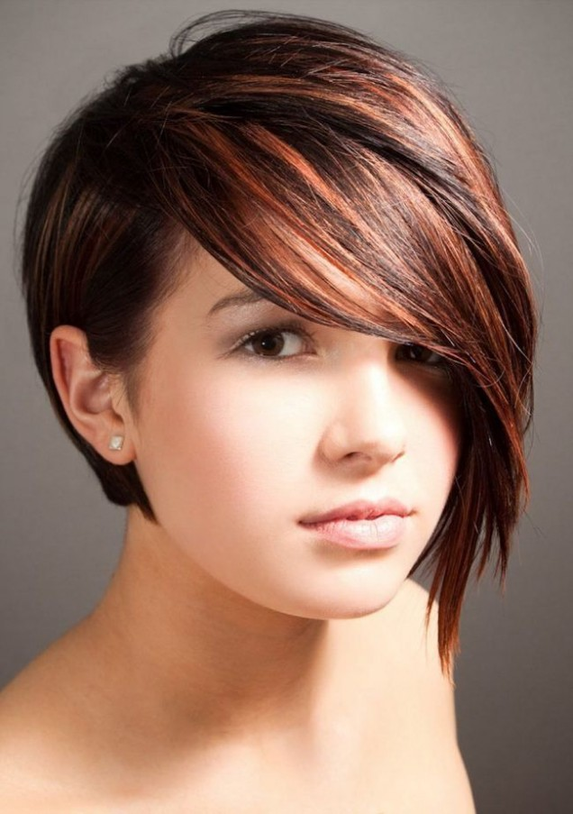 балеаж на червена къса коса