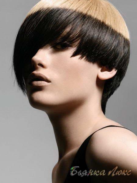 коса с контрастен преход