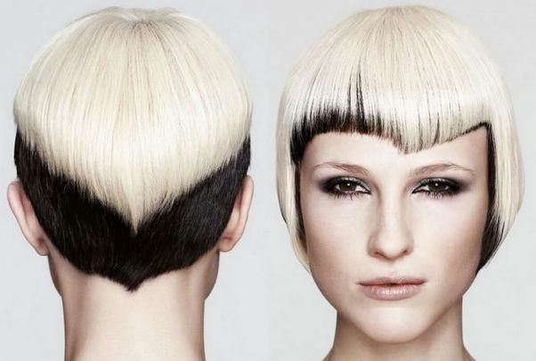 коса в контрастни цветове