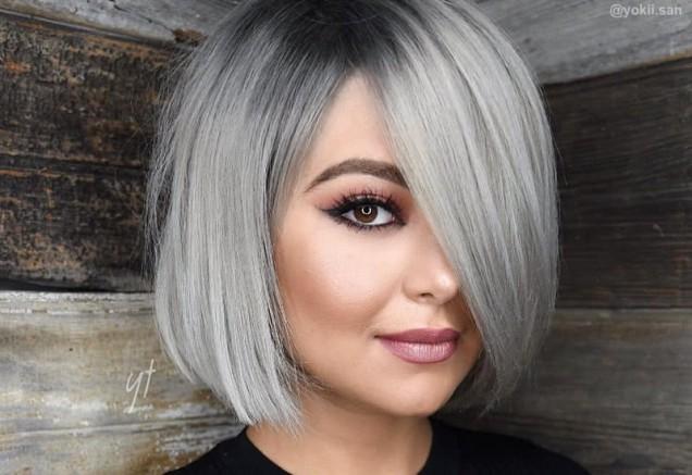 пепеляво сива коса