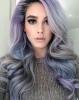 коса с лилав отенък