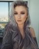 коса със сив отенък