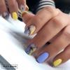 маникюр жълто и синьо