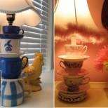 лампион от стари чаши